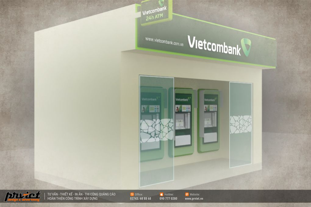Thiết kế Booth ATM Vietcombank